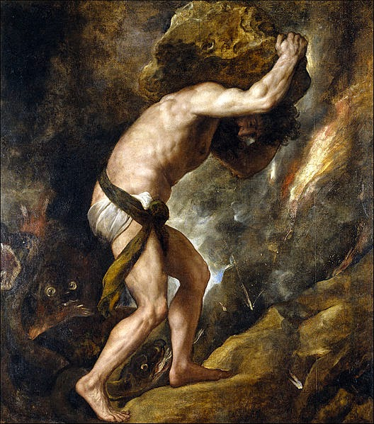 Sysiphus, by Tiziano (1549)